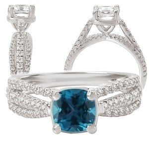 117072al Square Cushion Cut Alexandrite Engagement Ring