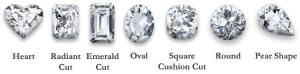lab-grown colorless diamonds shapes