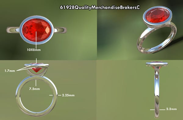 Oval Ruby Engagement Ring