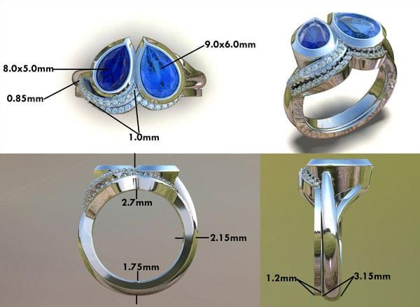 Heart & Soul Birthstone Engagement Ring