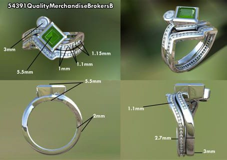 precious princess birthstone engagement ring with diamond eternity band.
